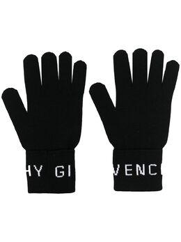 Givenchy перчатки вязки интарсия с логотипом BPZ00QP06J