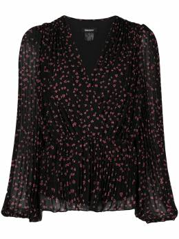 DKNY блузка с V-образным вырезом и принтом P0JAWHNX