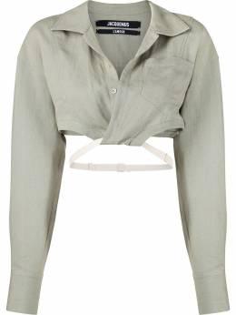 Jacquemus укороченная рубашка La chemise Laurier 211SH05211111530