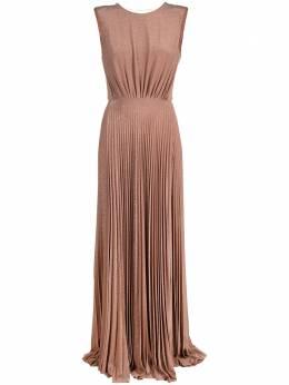 Elisabetta Franchi плиссированное платье макси AB05211E2