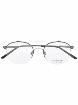 Calvin Klein очки в круглой оправе CK19144F