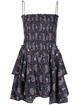 Isabel Marant Etoile платье мини с принтом пейсли и сборками RO186621P031E