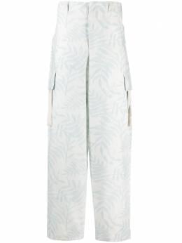 Jacquemus брюки карго с принтом 215PA04215109143