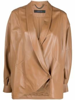 Federica Tosi куртка с косой молнией FTE21CP0140VPELLE