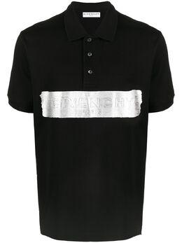 Givenchy рубашка поло с тисненым логотипом BM711E3006
