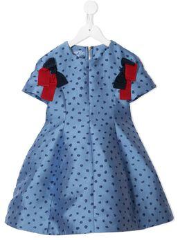 Mi Mi Sol расклешенное платье в горох MFAB165