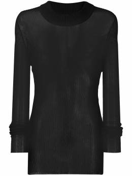 Rick Owens fine knit semi-sheer jumper RU21S6602C