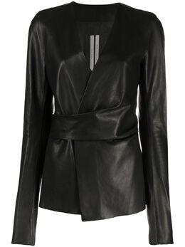 Rick Owens куртка с запахом RP21S3713LBL