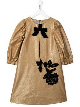Mi Mi Sol платье с цветочной вышивкой MFAB151