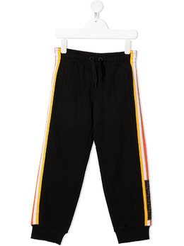 Fendi Kids striped logo-trim track pants JUF0305V0