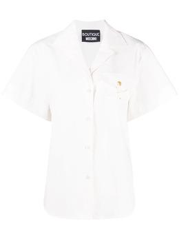 Boutique Moschino поплиновая рубашка с карманом A02070822