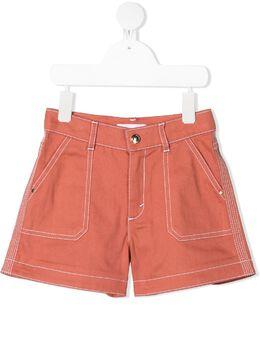 Chloe Kids contrast stitching detail shorts C14657