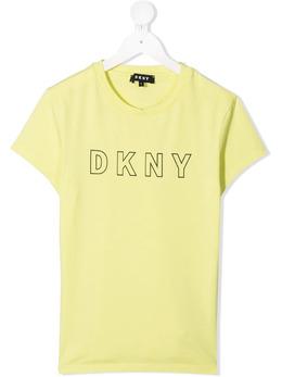 DKNY Kids logo print T-shirt D35R23