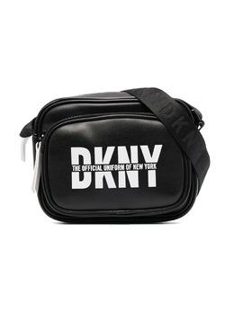 DKNY Kids logo print shoulder bag D30506