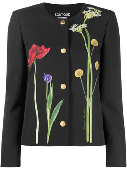 Boutique Moschino жакет с цветочным принтом A05161139