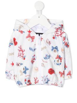 Monnalisa куртка с капюшоном и цветочным принтом 3971037023