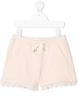 Chloe Kids embroidered trim shorts C14659
