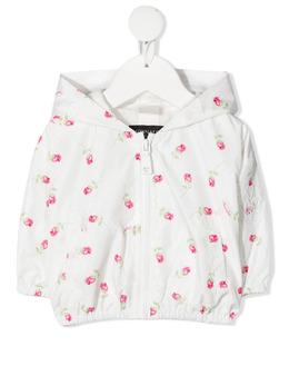 Monnalisa куртка с капюшоном и цветочным принтом 3971027026