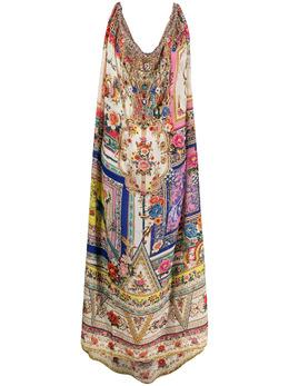 Camilla платье с цветочным принтом и кулиской 00010899