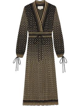 Gucci платье с жаккардовым логотипом GG 644736XKBOG