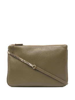 Sandro logo-print leather cross body bag SFASA00631