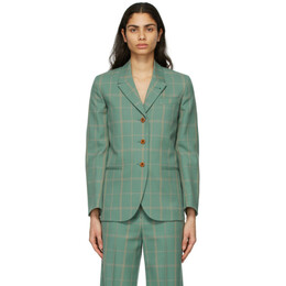 Gucci Green Windowpane Blazer 633331 ZAE2S