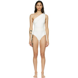 Haight Off-White Crepe Maria One-Piece Swimsuit 01020087