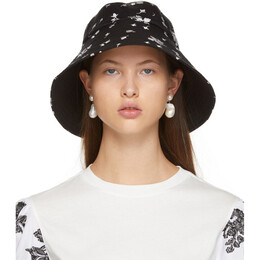 Erdem Black and White Bud Beach Hat PS21_1390BECL