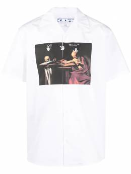 Off-White graphic print short-sleeved shirt OMGA163R21FAB0040125
