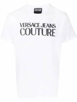 Versace Jeans Couture футболка с круглым вырезом и логотипом B3GWA7TA30454
