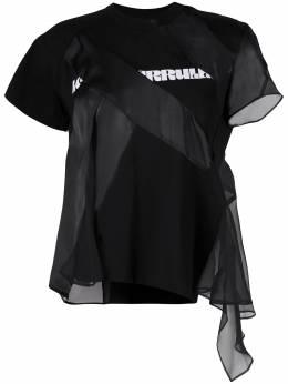 Sacai футболка с контрастными вставками 2105452