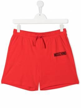 Moschino Kids шорты с логотипом HUQ00HLBA10