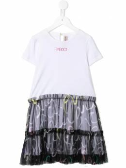 Emilio Pucci Junior платье-футболка с логотипом 9N10212100