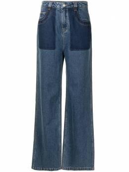Portspure широкие джинсы с контрастными карманами RM3P017KDC004INDIGODENIM