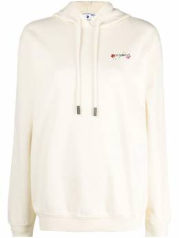 Off-White embroidered floral Arrow hoodie OWBB035R21JER0036184