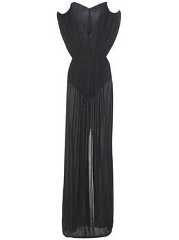 Платье Из Вискозы И Шелка Rick Owens 73IACG013-MDk1