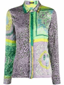 Versace Collection атласная рубашка с контрастными вставками A88557IF00387