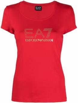 Ea7 crystal-embellished logo T-shirt 3KTT26TJ12Z