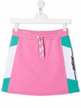 MSGM Kids юбка с логотипом MS027077