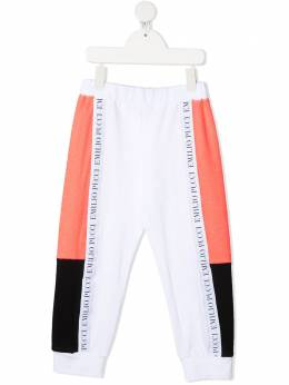 Emilio Pucci Junior спортивные брюки с логотипом 9O6077OC290
