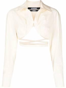 Jacquemus La chemise Baci cropped shirt 211SH03211114140