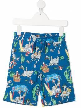 Stella McCartney Kids шорты с принтом Flamingo Land 602258SQJ66