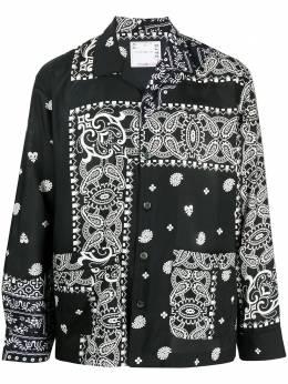 Sacai рубашка с длинными рукавами и принтом пейсли 2102470M
