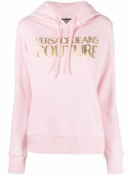 Versace Jeans Couture толстовка с логотипом и эффектом металлик B6HWA7TP30318