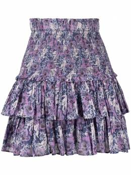 Isabel Marant Etoile floral print tiered skirt JU075321P009E