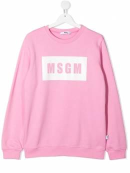 MSGM Kids толстовка с логотипом MS026830