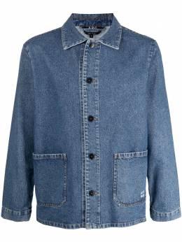 A.P.C. джинсовая куртка-рубашка на пуговицах COEJUH03053