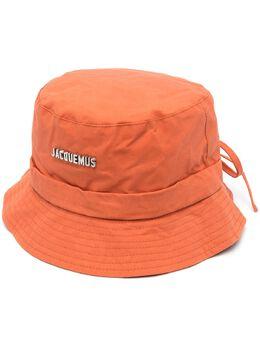 Jacquemus logo-plaque bucket hat 215AC03215504450