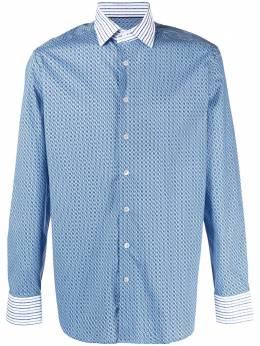Etro рубашка с геометричным принтом и длинными рукавами 129104766