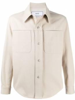 Ami Paris однотонная куртка-рубашка E21HD429615